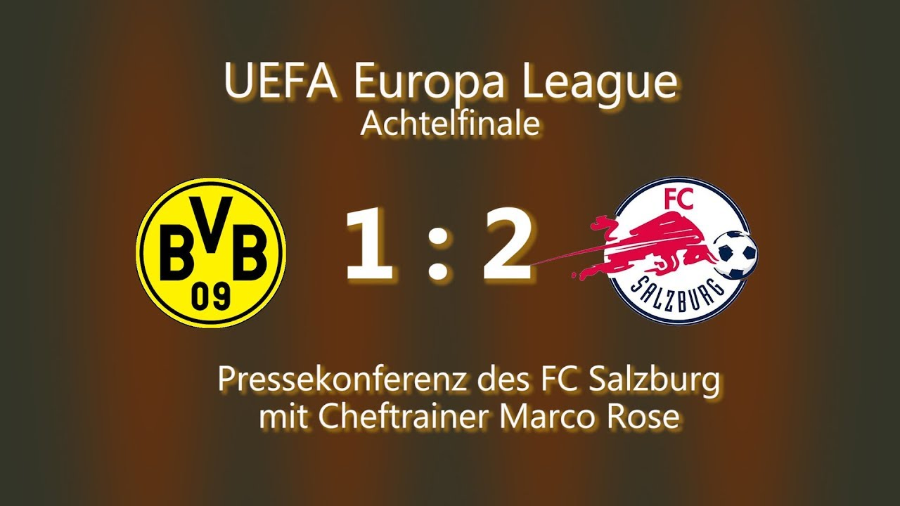 Borussia Dortmund - FC Salzburg: Pk mit Marco Rose