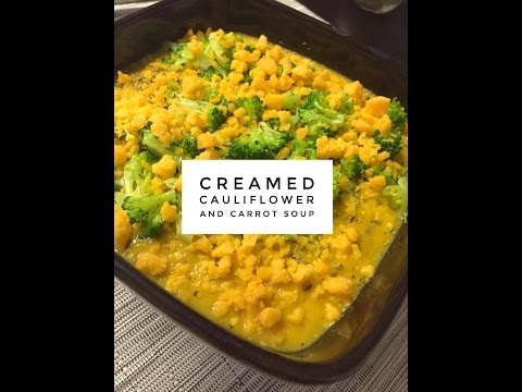 Creamed Cauliflower And Carrot Soup