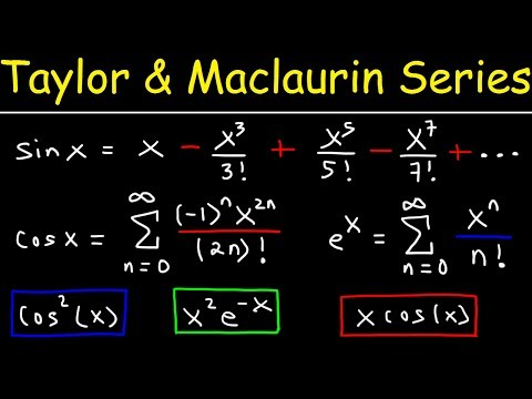 Taylor Series And Maclaurin Series - Calculus 2