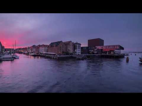Performing Arts Theater in the Evening, Copenhagen, Timelapse Video