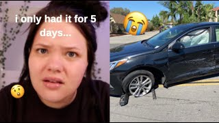 my brand new car was totaled + grwm