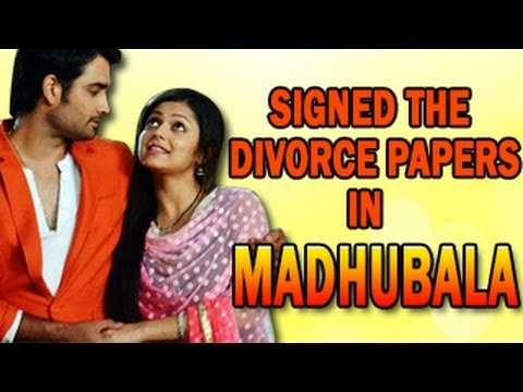 Image result for RK and Madhu to sign on the divorce papers in Colors' Madhubala