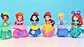 Куклы Пупсики Играют Распаковка Принцессы Диснея Мультик Ариель Золушка Белль Зырики Детский Канал