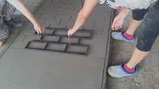 Декоративный бетон своими руками Ч 4