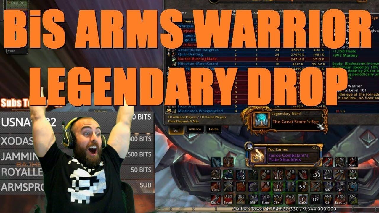 Bajheera - INSANE BiS ARMS WARRIOR LEGENDARY DROP - WoW Legion 7 3 Warrior  PvP