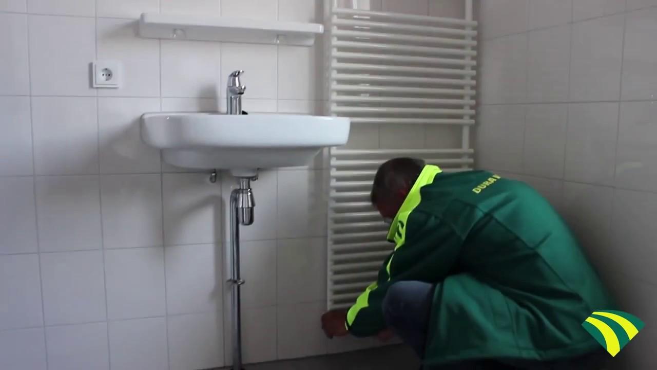De radiator in uw badkamer - Dura Vermeer - YouTube