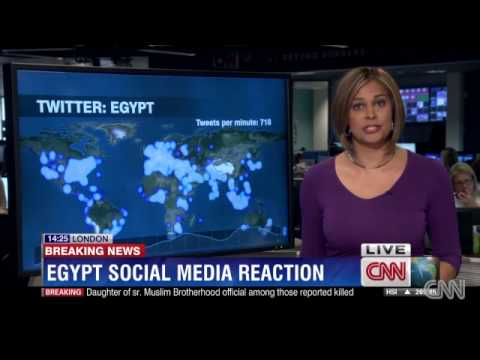 Social media reaction to Egypt's crisis