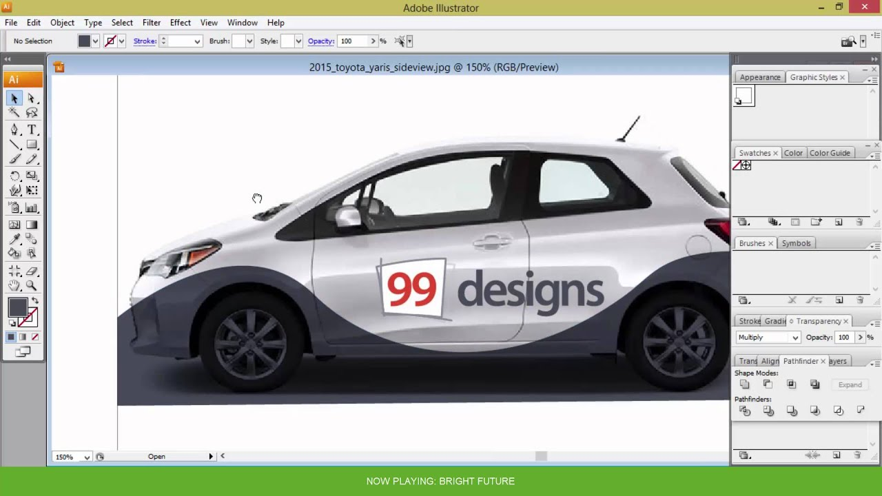 How to create vehicle wrap design in 3 simple steps youtube malvernweather Choice Image