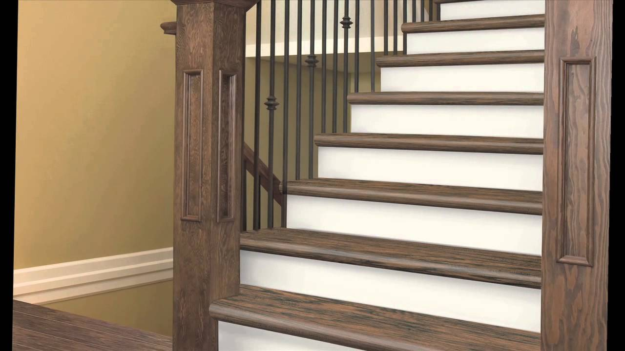 Zamma Cap A Tread Installation Video Youtube   Prefinished Stair Treads Home Depot   Stair Parts   Natural Maple   Risers   White Oak Stair   Unfinished Maple