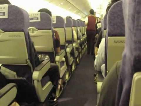 中国国際航空・CA979便・出発前の機内
