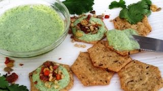 Garlicky Cilantro Yogurt Mix For Spreads, Dips And Salad Dressings | Poonam's Kitchen