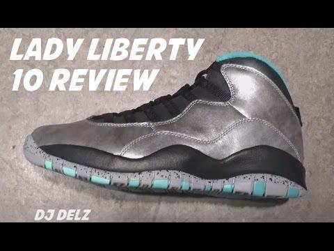 ce6676cee79 Air Jordan 10 Lady Liberty 2015 Allstar Retro Sneaker Review With @DjDelz