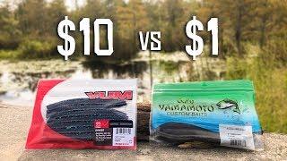 CHEAP vs EXPENSIVE Senko Fishing CHALLENGE!!! (Walmart)