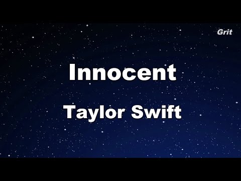 Innocent - Taylor Swift Karaoke【No Guide Melody】