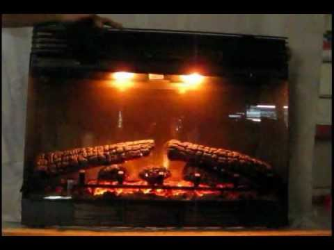 dimplex 30 electric fireplace insert dfb6016 realistic flame light youtube. Black Bedroom Furniture Sets. Home Design Ideas