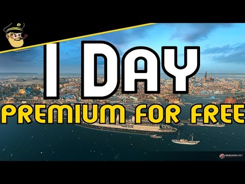 1 Day premium Account for free - ( EU only ? )  Bonuscode || World of Warships