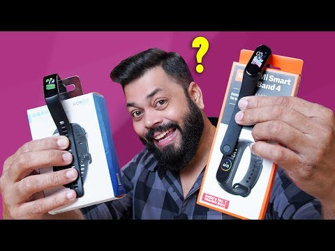 Mi Band 4 Indian Edition Unboxing & Comparison with Honor Ba