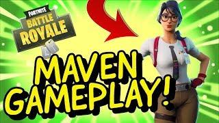 MAVEN Skin Gameplay In Fortnite Battle Royale (en)