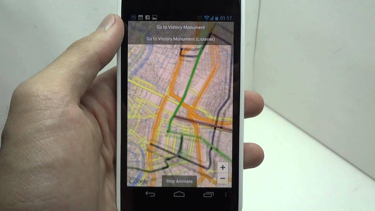 [Android Code] Google Maps Android API v2 - Camera Animate