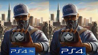 [4K/60FPS] Watch Dogs 2: PS4 vs PS4 Pro 4K vs PS4 Pro 1080p