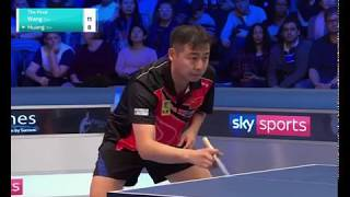 World championships of Ping Pong 2018 Wang-Huang final