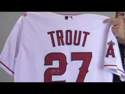 pick up edcb6 e574c Mike Trout Autographed Authentic Jersey w/ 1961 Angels Patch - MLB Holo &  PSA/DNA