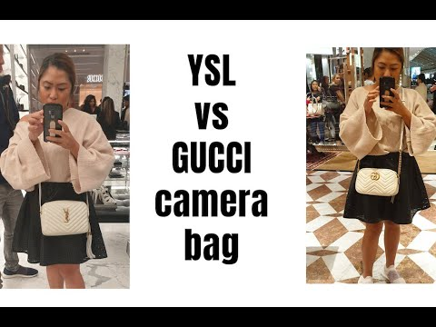 Ysl Lou Camera Bag Unboxing And Try On Gucci Vs Ysl Ysl Whitedesignerbag Youtube