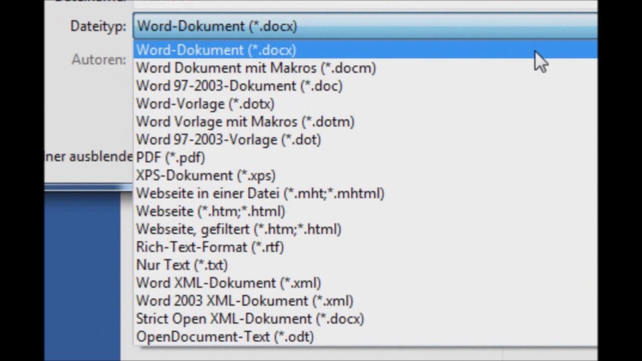 Praxistipp: Word-Dokument als PDF-Datei speichern - YouTube