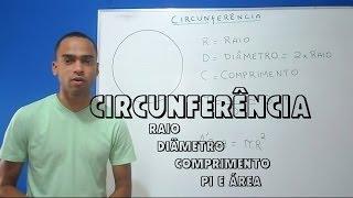 Circunferência: Raio, diâmentro, comprimento e área [NOVO]