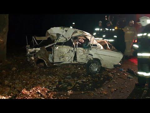 Опубликовано видео с места ДТП под Волгоградом, где погибли 4 человека
