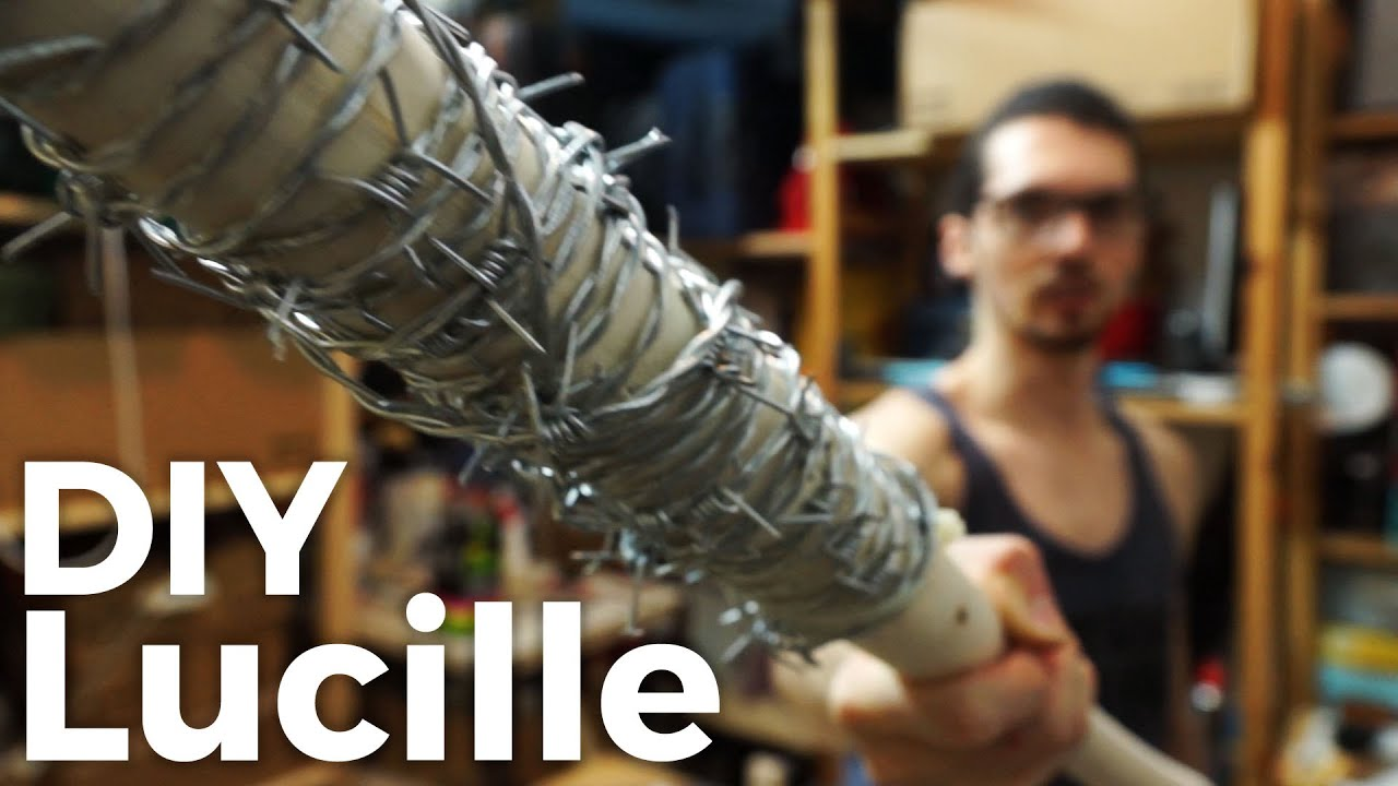 Lucille Makeover | Wrapping A Bat With Barb Wire - YouTube on wire hat, wire dream catcher, wire bee, wire bit, wire frog, wire octopus, wire lizard,