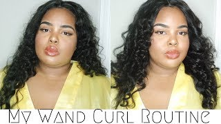 My Wand Curl Routine   ft. DSOAR Malaysian Natural Wave