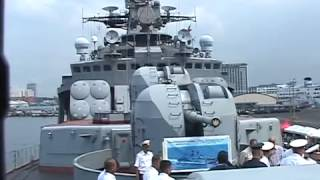 RUSSIAN ASW DESTROYER with US GUIDED MISSILE DESTROYER in the Philippines
