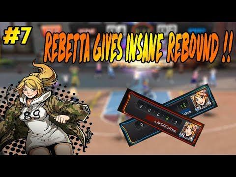 Rebetta gives more REBOUND !! - Basketball Hero #7