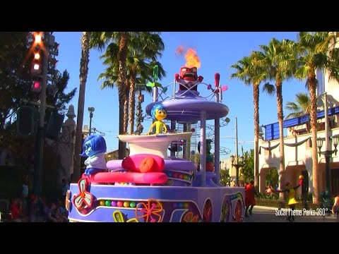 NEW! Inside Out Parade Float - Talking Animatronic Emotion Puppets - Disney California Adventure