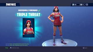 Fortnite buying new triple threat skin.