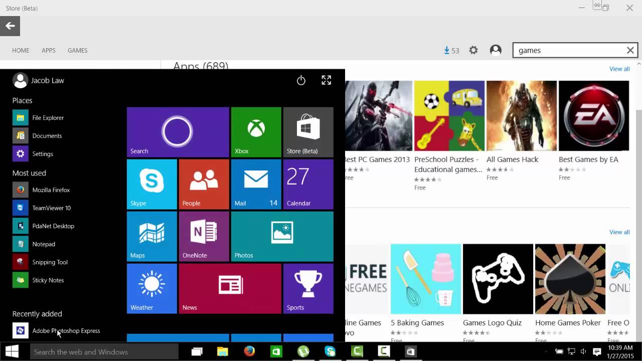 Windows 10 store does not work - Windows 10 App Store Interface Layout Plays Mobile Phone Apps Youtube