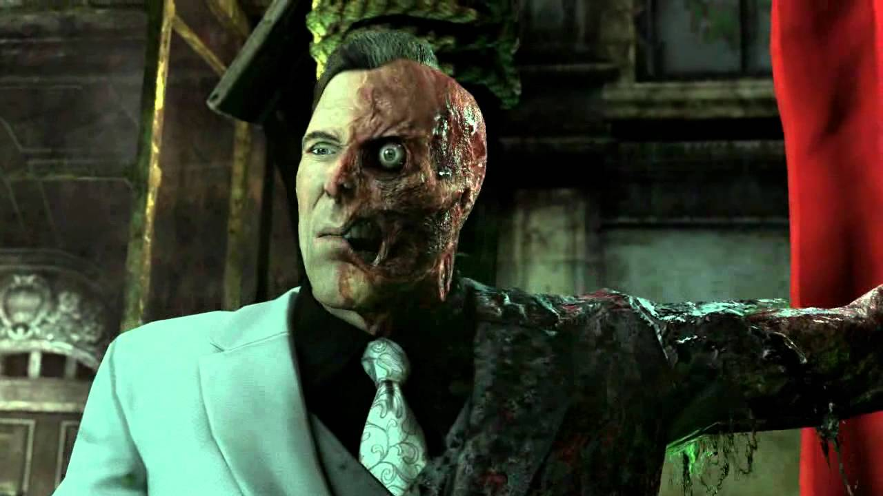 The Joker Animated Wallpaper Arkham City Two Face S Cutscenes With His Tas Theme Youtube