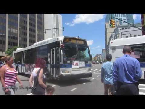 Buses In Downtown Brooklyn, NYC