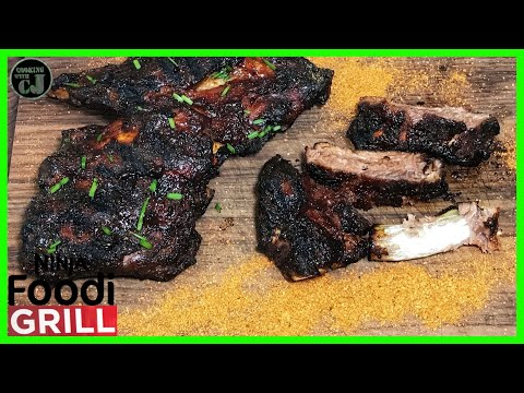 HOW TO MAKE BBQ BABY BACK RIBS IN THE NINJA FOODI GRILL! | #ninjafoodigrill