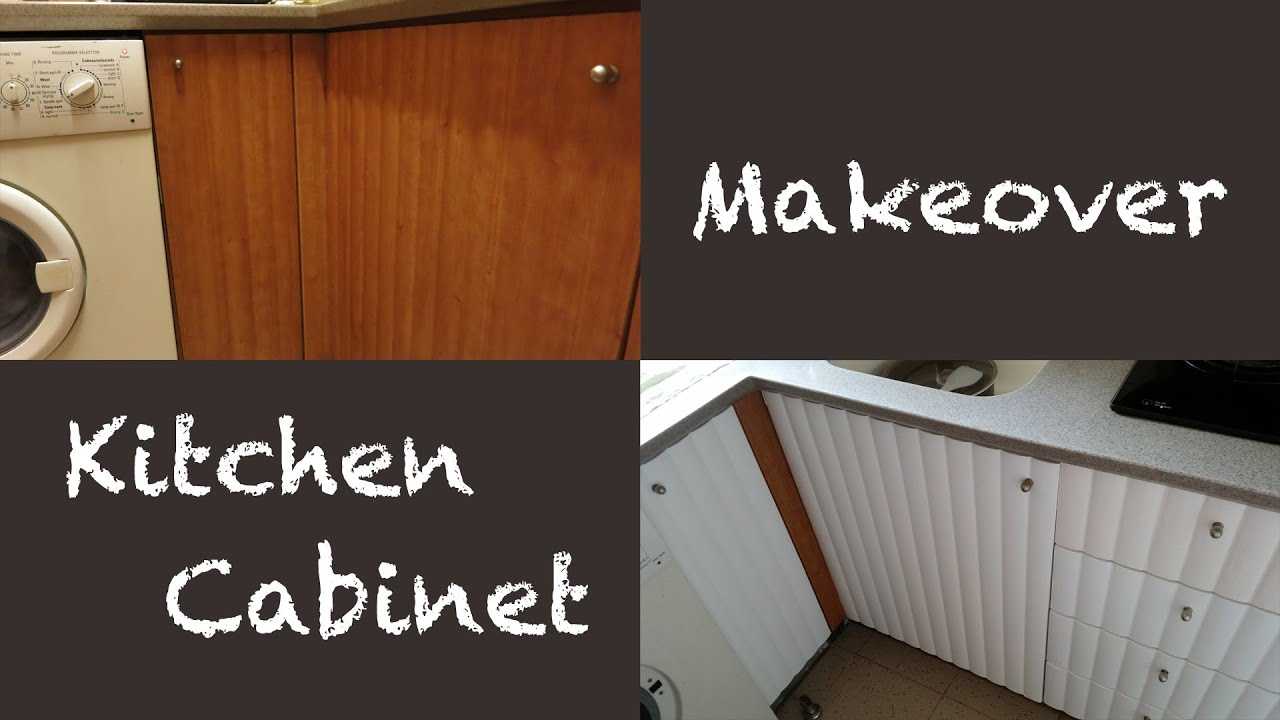 Apartment tour kitchen cabinet makeover youtube for Apartment kitchen cabinets