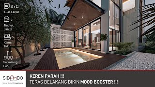 Desain Rumah Modern Kontemporer 2 Lantai 5 Kamar Tidur | Contemporary Modern House | 12 x 22 meter