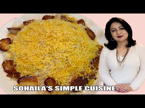 basmati rice with potato crust