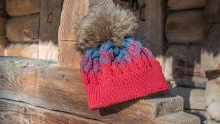Как связать шапку спицами   Как связать шапку узором плетенка. Часть 2. ★★★