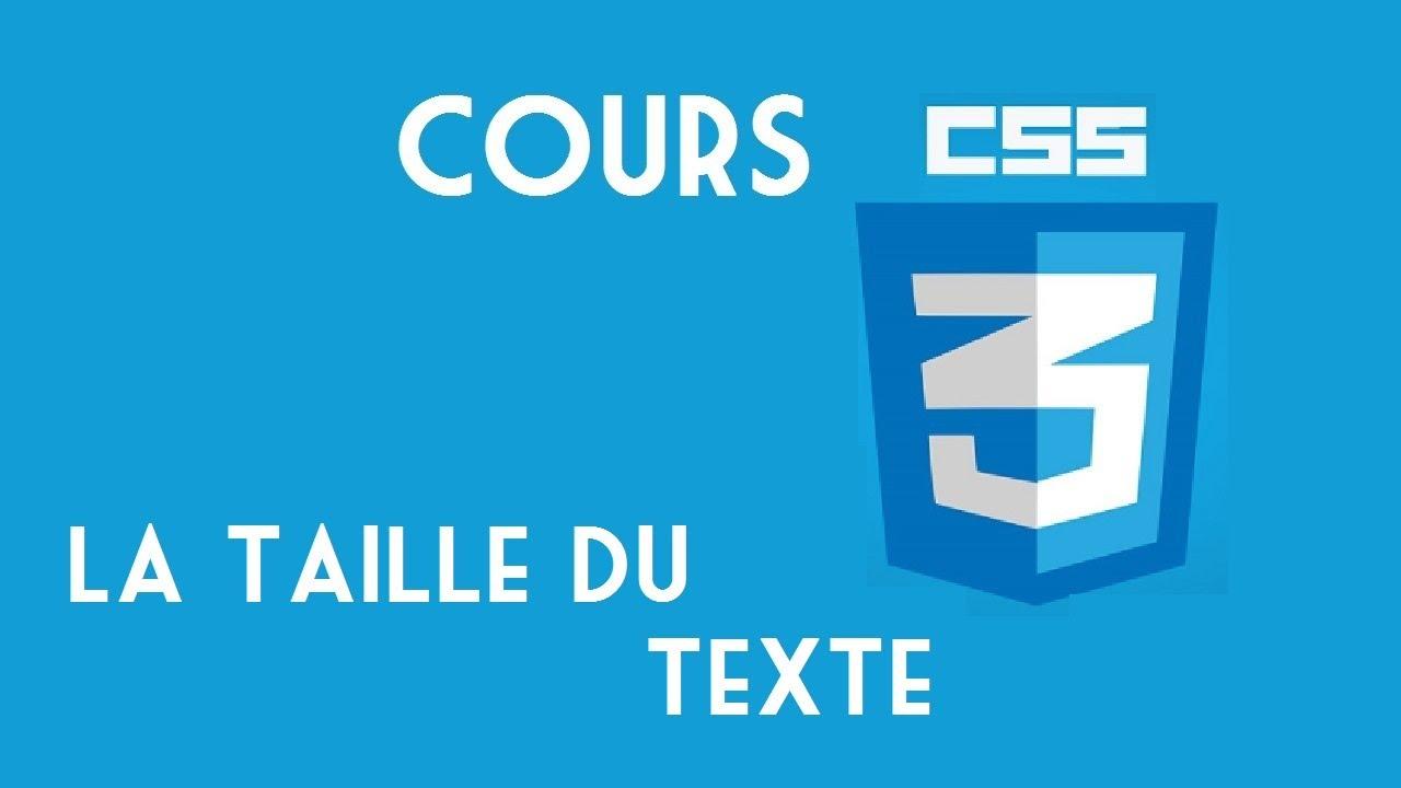 13 Html Css La Taille Du Texte Youtube