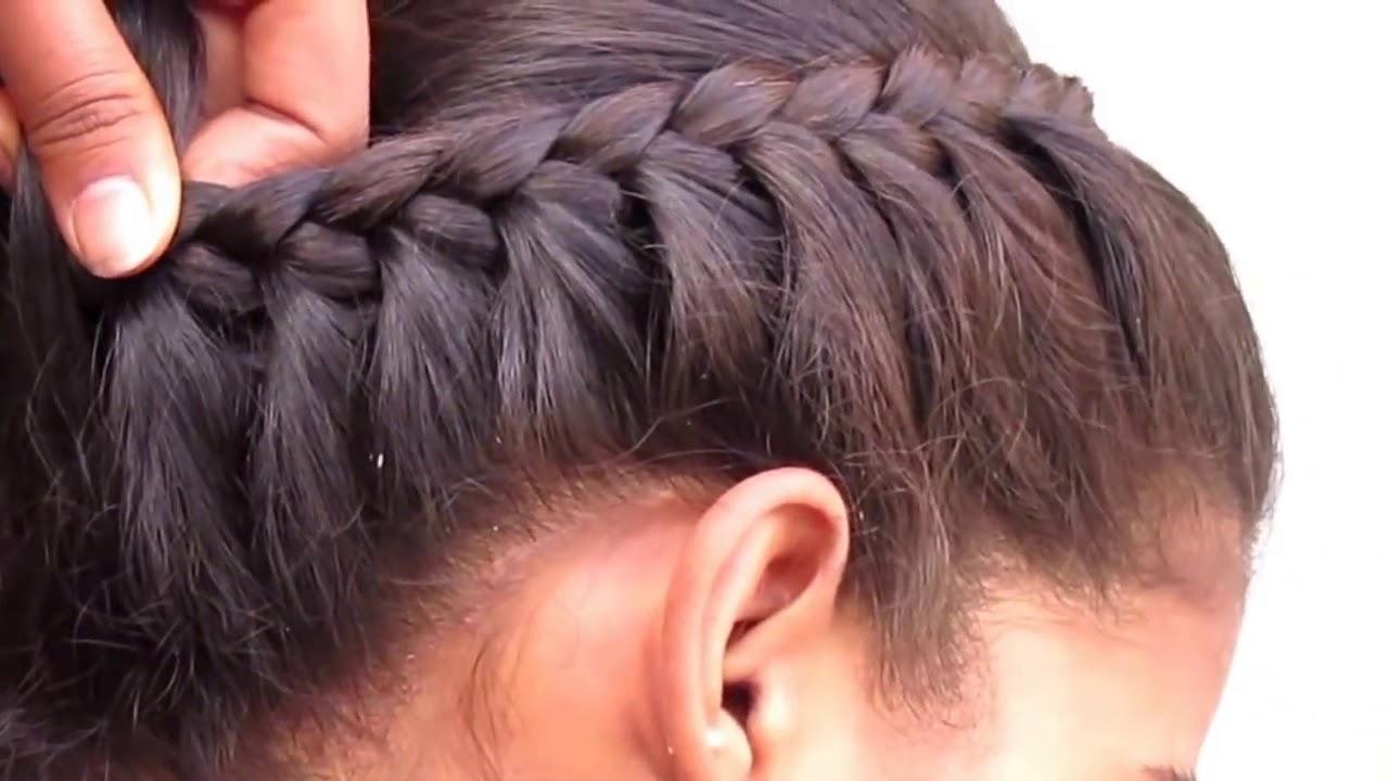 Women Side French Braid Hair Style Youtube