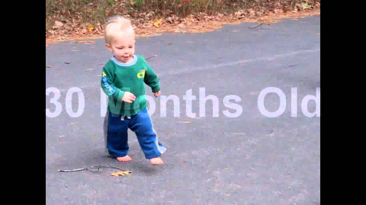 Development of Running Form in a Child - 18 Months to 30 Months