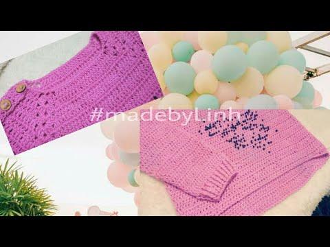 Hướng dẫn móc áo len tay dài cho bé từ 1-2 tuổi phần 3