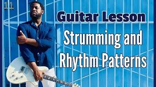 [R&B Guitar Lesson]  Strumming & Rhythm Patterns