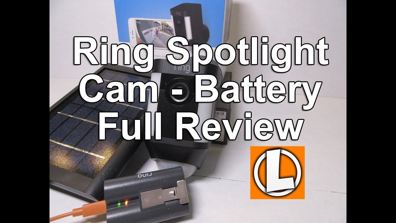 Ring Spotlight Cam Battery Review + Solar Panel  – Unboxing, Setup, Settings, Installation, Footage